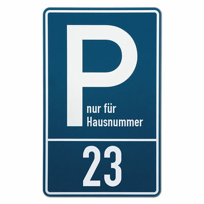 Parking Spot Sign with Your House Number S3500