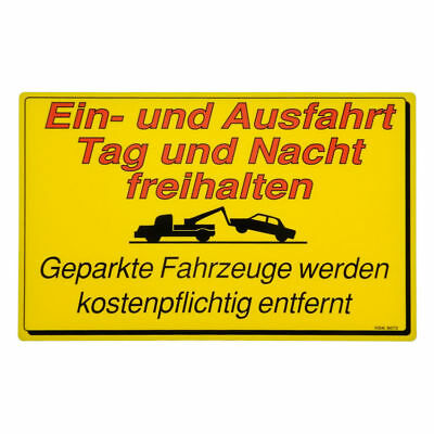 Shield A and Ausfahrt freihalten made from PVC S2208