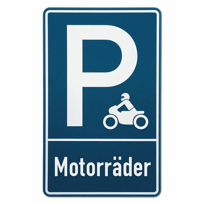 Parking Spot Sign Motorcycle S3567