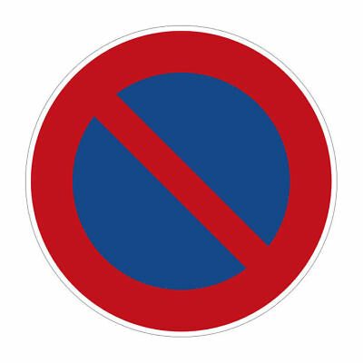 TRAFFIC SIGNS PARKING PROHIBITED - eingeschränktes Stopping After STVO S3758