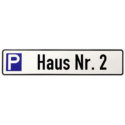 Shield Made of Aluminium - Parking Spot for a in Particular House with Search