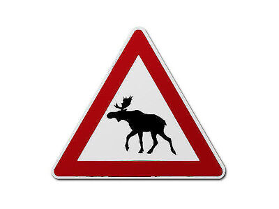 Norwegian Traffic Sign Moose - The Traffic Signs from Norway S3427