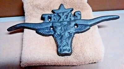 Cast Iron TEXAS LONGHORN wall decor Rustic Ranch Country Farm