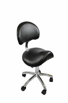 Saddle Chair/stool With Back Salon Beauty Equipment  - Black