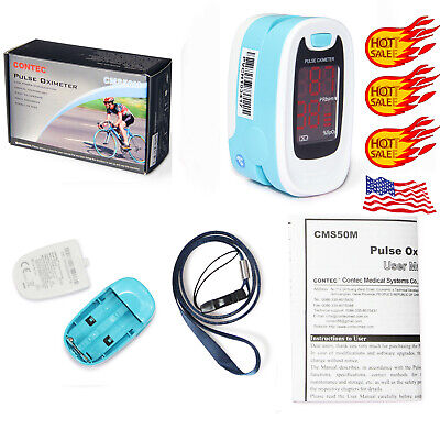 Finger Tip Pulse Oximeter SpO2 Heart Rate monitor blood oxygen Meter Sensor case