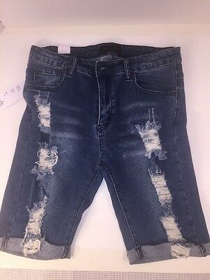 a31542e134f3 DISTRESSED DENIM JEANS Shorts American Bazi Women's Size Large ...