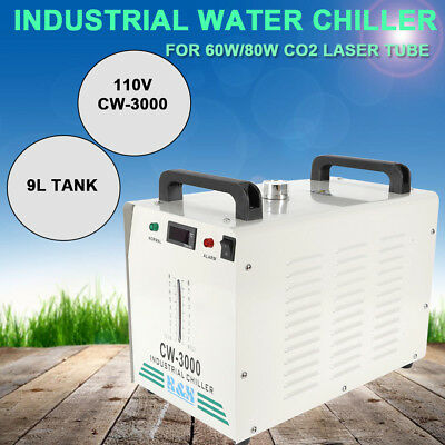 Cw3000 Thermolysis Industrial Water Chiller 9l for 60/80w Co2 Glass Tube