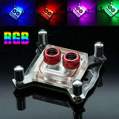 PC Water Cooling CPU Block Support RGB Control Remote Copper For AURA For Intel