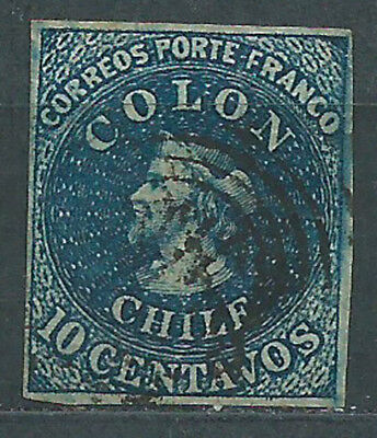 Chile - Mail 1856 Yvert 6 o