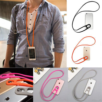 Universal Cell Phone Strap Neck Hanging Lanyard Stretchy Silicone Phonestrap