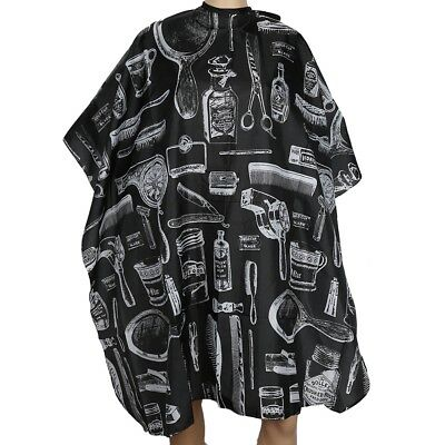 Black Hair Cutting Cape Large Salon Hairdressing Barber Cloth Hairdresser Gown
