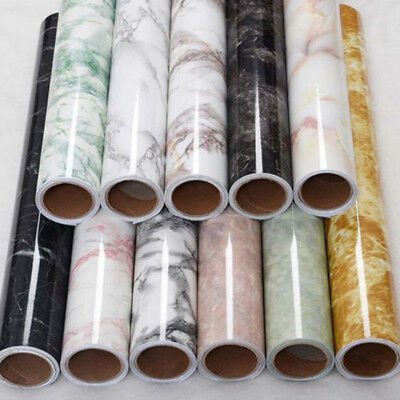 Marble Contact Paper Self Adhesive Waterproof Worktop Peel Stick Wall Stickers