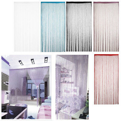 Door Curtain String Beads Room Divider Window Panel Crystal Fringe Tassel Beaded