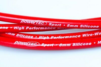 PowerTEC Sport 8mm Ignition HT Leads Set Audi 80 100 A6 C4 Coupe 2.0 16v ACE 6A