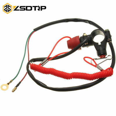 7/8inch Motorcycle Engine Stop Kill Switch Safety Tether Cord Emergency Button