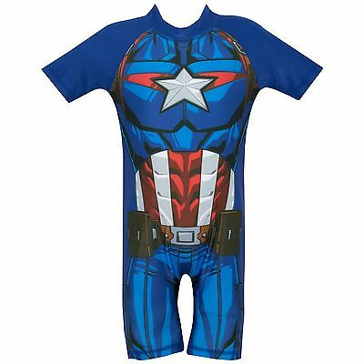 Captain America Swimsuit | Marvel Avengers Captain America Swimming Costume  sc 1 st  PicClick IE & Swimwear Girlsu0027 Clothing (2-16 Years) Kidsu0027 Clothes Shoes u0026 Accs ...