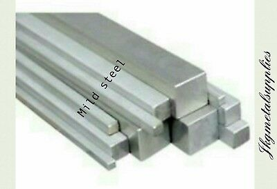 22mm x 22mm -MILD STEEL SQUARE Bar/Rod - various lengths