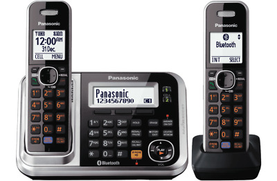 PanasonicKX-TG7892AZS DECT Cordless Phones 2 Handsets. Bluetooth connectivity