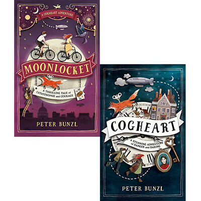 Cogheart Adventures Collection By Peter Bunzl 2 Books Set Moonlocket PACK BRAND