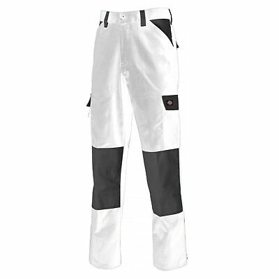 Dickies White Painters Work Trousers Mens Lightweight Durable Industrial ED247