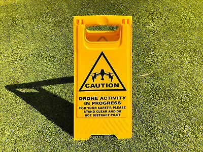 Safety A Frame Caution Sign - Drone Activity in Progress - Inspire Image