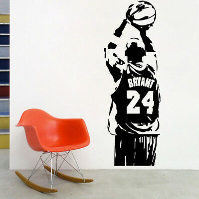 Removable Vinyl Wall Sticker NBA Kobe Bryant Basketball Poster Room Decal Decor