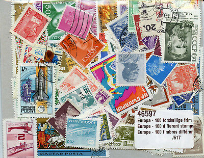 Europe Europa Collection of 100 Different Stamps Briefmarken Timbres
