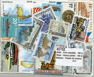 Ships Boats Nautical 100 Different Stamps Schiffe Briefmarken Bateaux Timbres