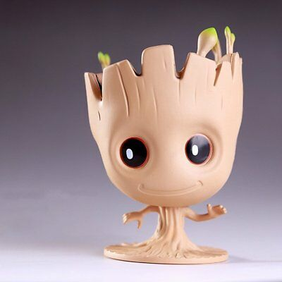 Guardians of the Galaxy Q Version Groot Flowerpot Style Pen Pot Toy Gift New