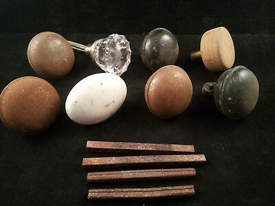 Vintage Lot of Door Knobs Handles Metal Wood Porcelain Glass AS-IS (K31)
