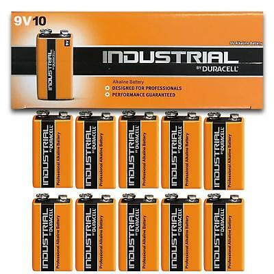 Genuine 10 Duracell 9V Pp3 Industrial Procell Batteries Smoke Alarm Lr22 E-Bloc