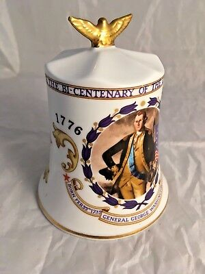 Aynsley Bone China American Independence Commemorative Bell