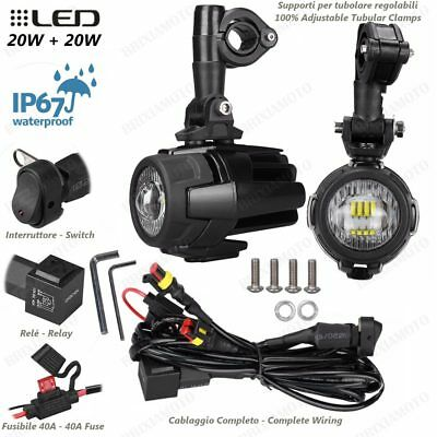 Pair Led Auxiliary Projectors Lights And Switch Honda 750 X-Adv 2017-2017