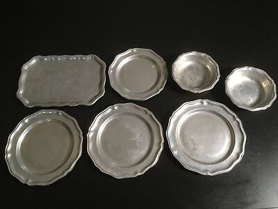 Wilton Queen Anne Pewter Misc Plates, Bowls and Platter