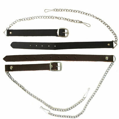 "Belt And Chain For Sporrans Brown Black Colors Upto 60"" Waist"