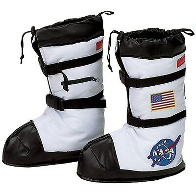 Astronaut Boots Kids NASA Spaceman Costume Halloween Fancy Dress