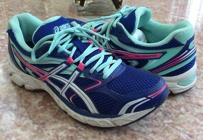 ASICS GEL EQUATION Women's Blue Pink Turquoise Running Shoes