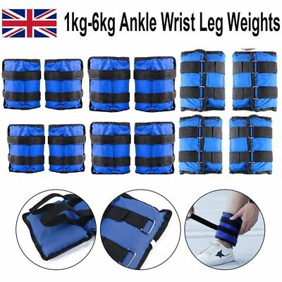 Ankle Weights Adjustable Leg Wrist Weight Strap Running Gym Training Exercise UK