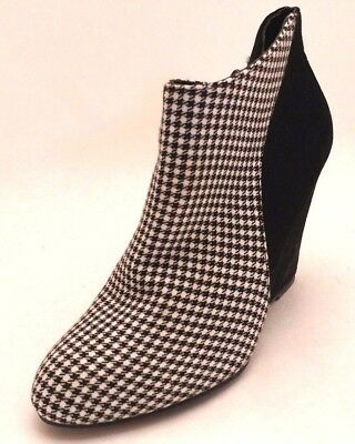 bec4a6f76eb7 Madden ZUMBA Wedge Ankle Boots, Black/White, Women's Size 7.5M, US