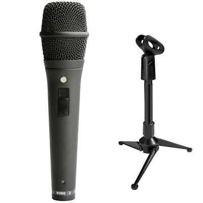 Rode M2 Live Performance Handheld Supercardioid Microphone + Mini Tripod Stand