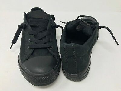 New! Converse Unisex Youth Low Top 626089F black/black 420M z