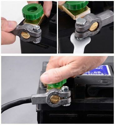 Green Car Battery Link Terminal Quick Cut-off Disconnect Master Kill Shut Switch