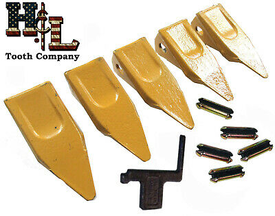 23P Pick Bucket Tooth 5 Pack + 23FP Flexpins® Made in USA by H&L Tooth Co. 230T9