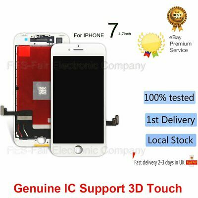 """For Apple iPhone 7 4.7"""" 3D Touch Screen LCD Digitizer Assembly Replacement White"""