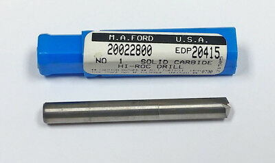 MF7491875 140 Degree Point #19 Straight Flute Carbide Drill