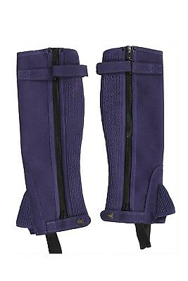 HB Professional Amara Suede Equestrian Half Chaps Horse Riding Half Chaps Large