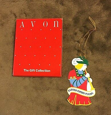 """Avon """"the Twelve Days Of Christmas"""" Ornament Collection/11 Pipers Piping"""