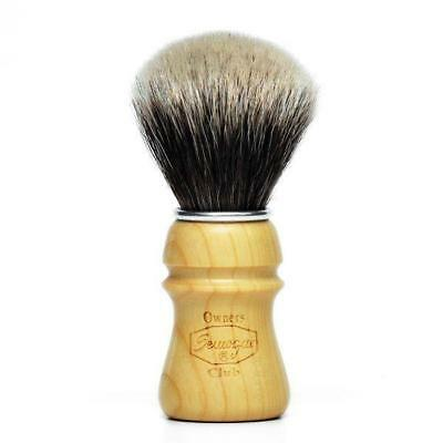 Semogue Owners Club Badger Shaving Brush Cherry Wood Soctc