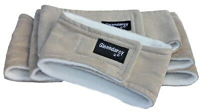 Glenndarcy Dog Belly Band for Urine Marking / Light incontinence - Tan Suedette
