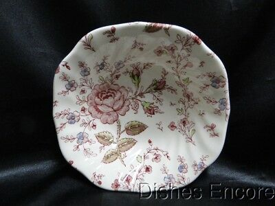 """Johnson Brothers Made in England, Rose Chintz: Square Cereal Bowl (s) 6 1/8"""""""